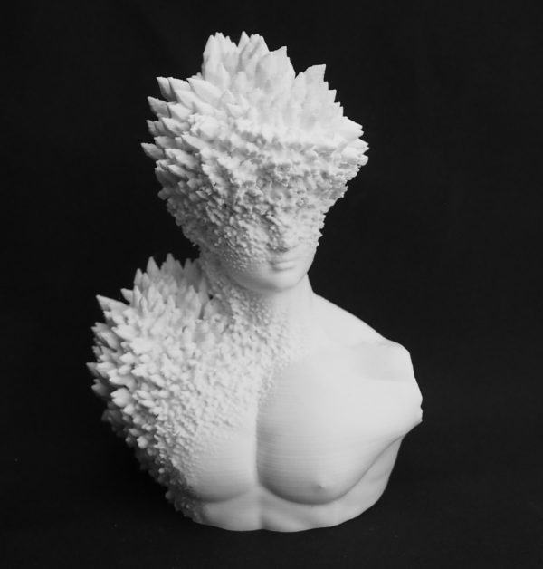 3D printed Bust printed with recycled 3D printing filament NEfila PETG white