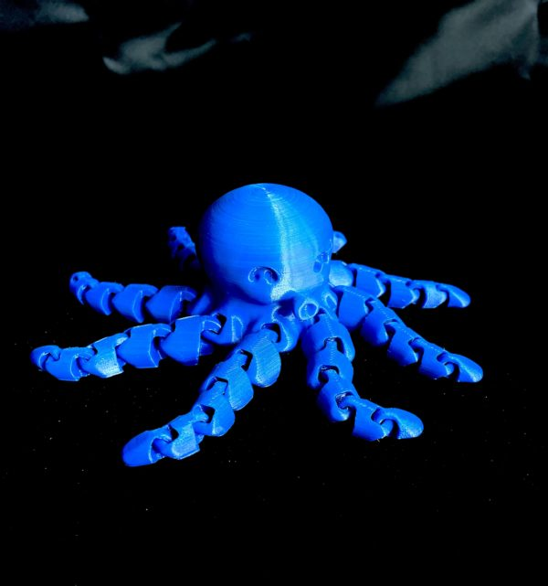 3D printed octopus with Nefila PETG deep blue